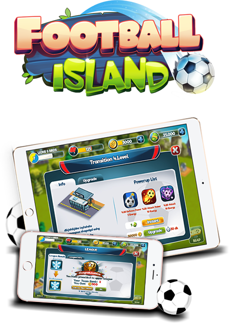 football island, football, game, mobile game